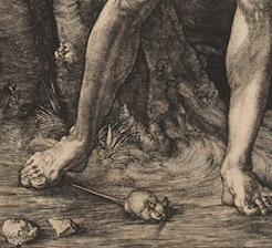 Albrecht Dürer, Adam and Eve, detail, 1504