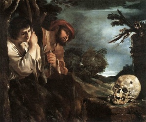 Guercino Et in Arcadia Ego, c. 1618