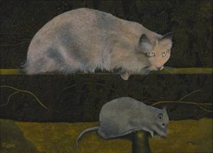 Cat and Mouse 1967 by James Lloyd 1905-1974